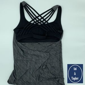 Lululemon Free To Be Wild grey/black tank size 12